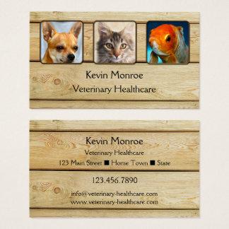 Tarjeta de visita de madera rústica personalizada