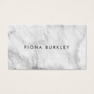 Tarjeta de visita de mármol minimalista de la