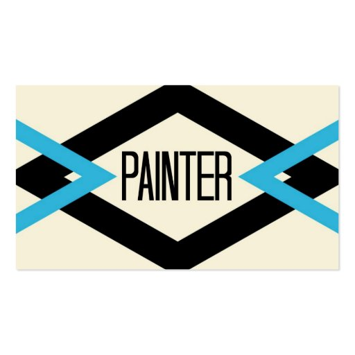 Tarjeta de visita de moda del pintor