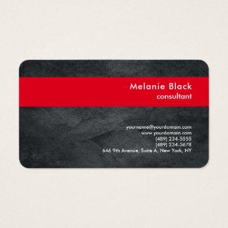 Tarjeta De Visita De moda elegante rojo gris profesional moderno