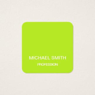 Tarjeta de visita de moda minimalista de la verde