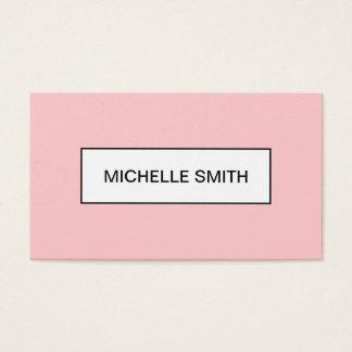 Tarjeta de visita de moda moderna minimalista del