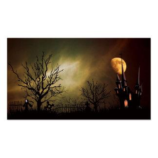 Tarjeta de visita de noche de Halloween
