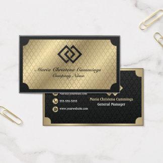 Tarjeta de visita de oro geométrica