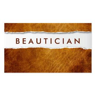 Tarjeta de visita de papel rasgada vieja del Beaut