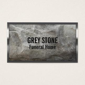Tarjeta de visita de piedra gris de la funeraria