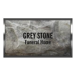 Tarjeta de visita de piedra gris de la funeraria d