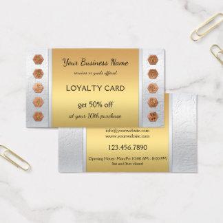 Tarjeta de visita de plata elegante de la lealtad
