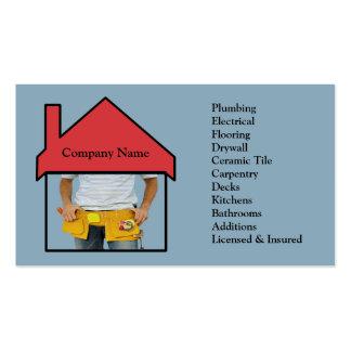 Tarjeta de visita de remodelado casera de la manit