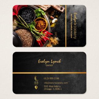 tarjeta de visita de restaurante del chile y de
