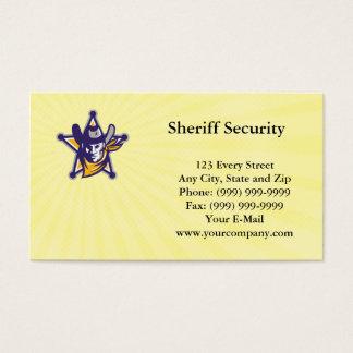 Tarjeta de visita de seguridad del sheriff