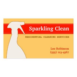 Tarjeta de visita de servicios de la limpieza