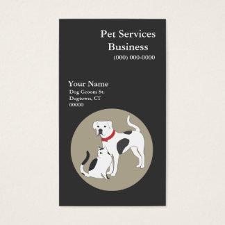 Tarjeta de visita de servicios del mascota