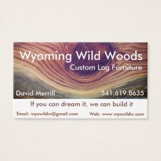 Tarjeta de visita de trabajo de madera