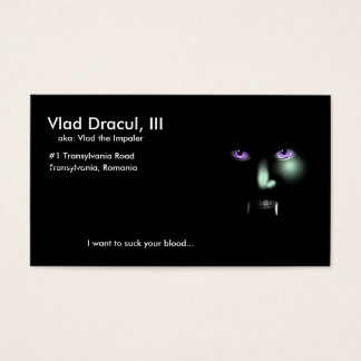 Tarjeta de visita de Vlad Dracul