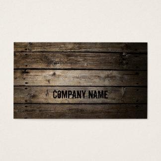 Tarjeta de visita de Wood Company