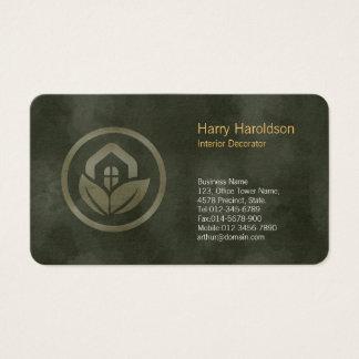 Tarjeta De Visita Decorador de interiores BusinessCard del icono de