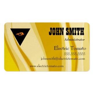Tarjeta de visita decorativa, amarilla tarjetas de visita