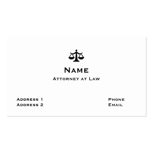 Tarjeta de visita del abogado 1