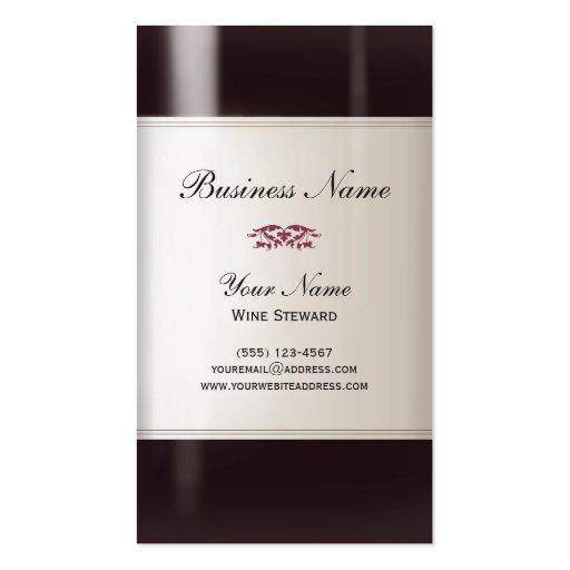 Tarjeta de visita del administrador de vino