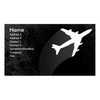 Tarjeta de visita del aeroplano