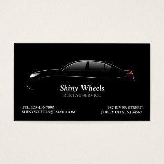 Tarjeta de visita del alquiler de coches