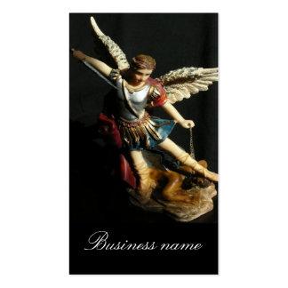 Tarjeta de visita del ángel de San Miguel