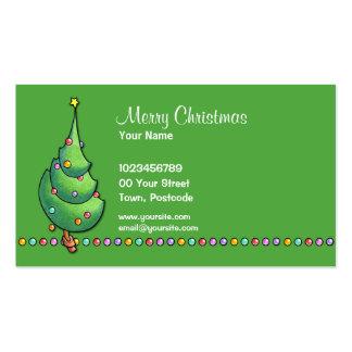 Tarjeta de visita del árbol de navidad green2