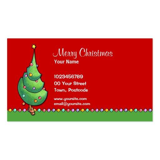 Tarjeta de visita del árbol de navidad red2