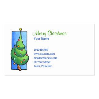 Tarjeta de visita del árbol de navidad