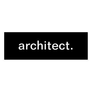 Tarjeta de visita del arquitecto