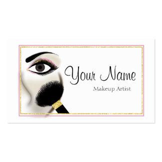 Tarjeta de visita del artista de maquillaje