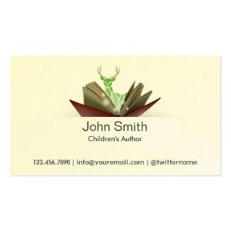 Tarjeta de visita del autor de los niños del libro