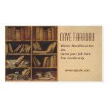 tarjeta de visita del autor del escritor del libro