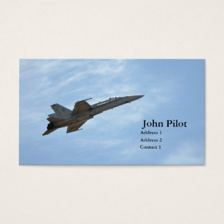 Tarjeta de visita del avión de combate