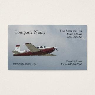 Tarjeta de visita del avión del solo motor
