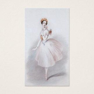 Tarjeta de visita del ballet