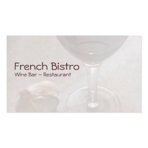 Tarjeta de visita del bar de vinos