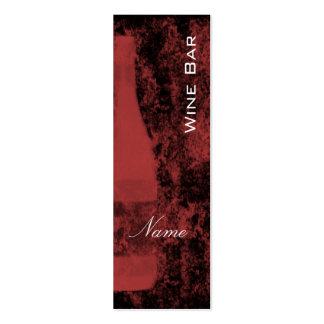 Tarjeta de visita del bar de vinos tarjetas de visita mini
