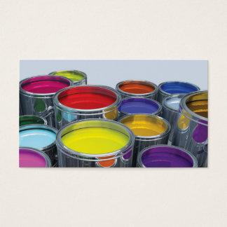 Tarjeta de visita del borde del pintor