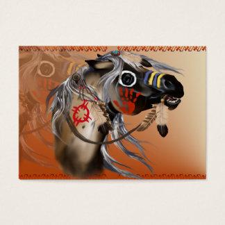 Tarjeta de visita del caballo de guerra