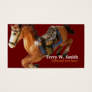 Tarjeta de visita del caballo mecedora