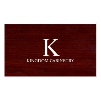 Tarjeta de visita del Cabinetry/de la carpintería