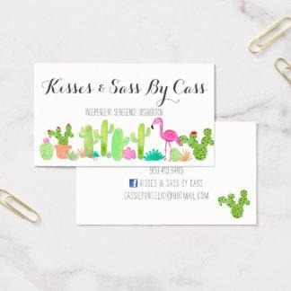 Tarjeta de visita del cactus
