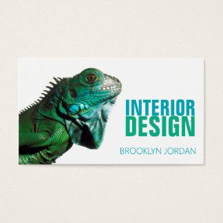 Tarjeta de visita del camaleón del diseñador del
