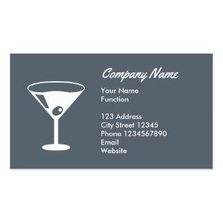 Tarjeta de visita del camarero con el logotipo del