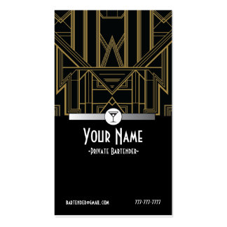 tarjeta de visita del camarero de Gatsby de los