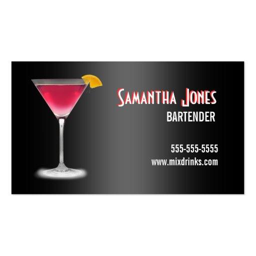 Tarjeta de visita del camarero de Martini