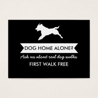 Tarjeta De Visita Tarjeta de visita del caminante del perro -
