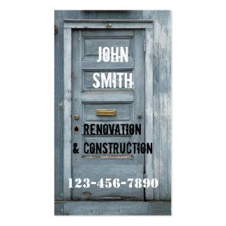 Tarjeta de visita del carpintero de la renovación